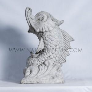 550_84_concrete_statute_dragon_fish_wave_45x55cm