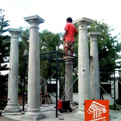 ขั้นตอนการก่อสร้าง และติดตั้ง พาวิลเลี่ยน